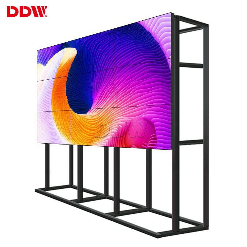 46 DDW LCD Video Wall 1.7mm Ultra Narrow Bezel For Shopping Mall DP Loop Out