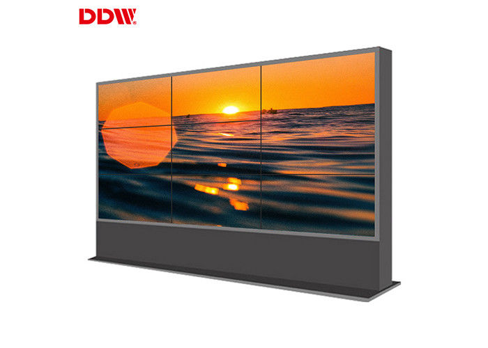 500 Nits Brightness Commercial Video Wall / LCD Seamless Monitor Wall